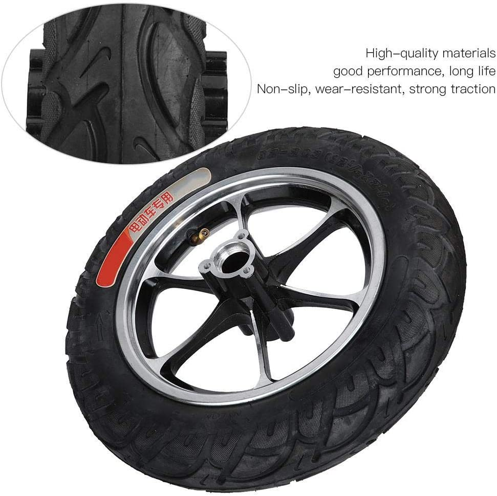 E-Scooter Tyre Bicaquu Electric Scooter Tire Non-slip Tire Shock Absorption 12in Tire Kit Front Hub Tyre E-Scooter for Electric Scooter