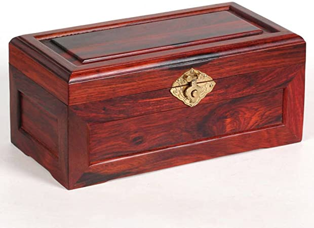 Rojo madera joyero caja de almacenaje de ornamento rojo decorativas cajas de madera Kit del sello vintage sólida caja de madera-C: Amazon.es: Hogar