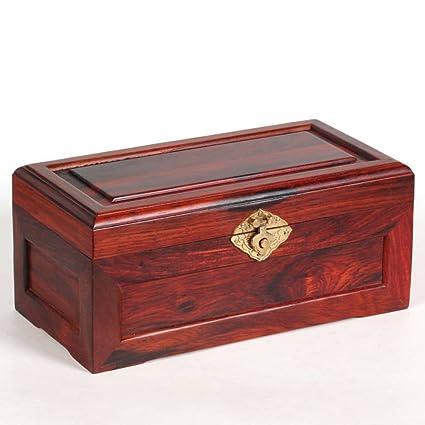 Rojo madera joyero caja de almacenaje de ornamento rojo decorativas cajas de madera Kit del sello