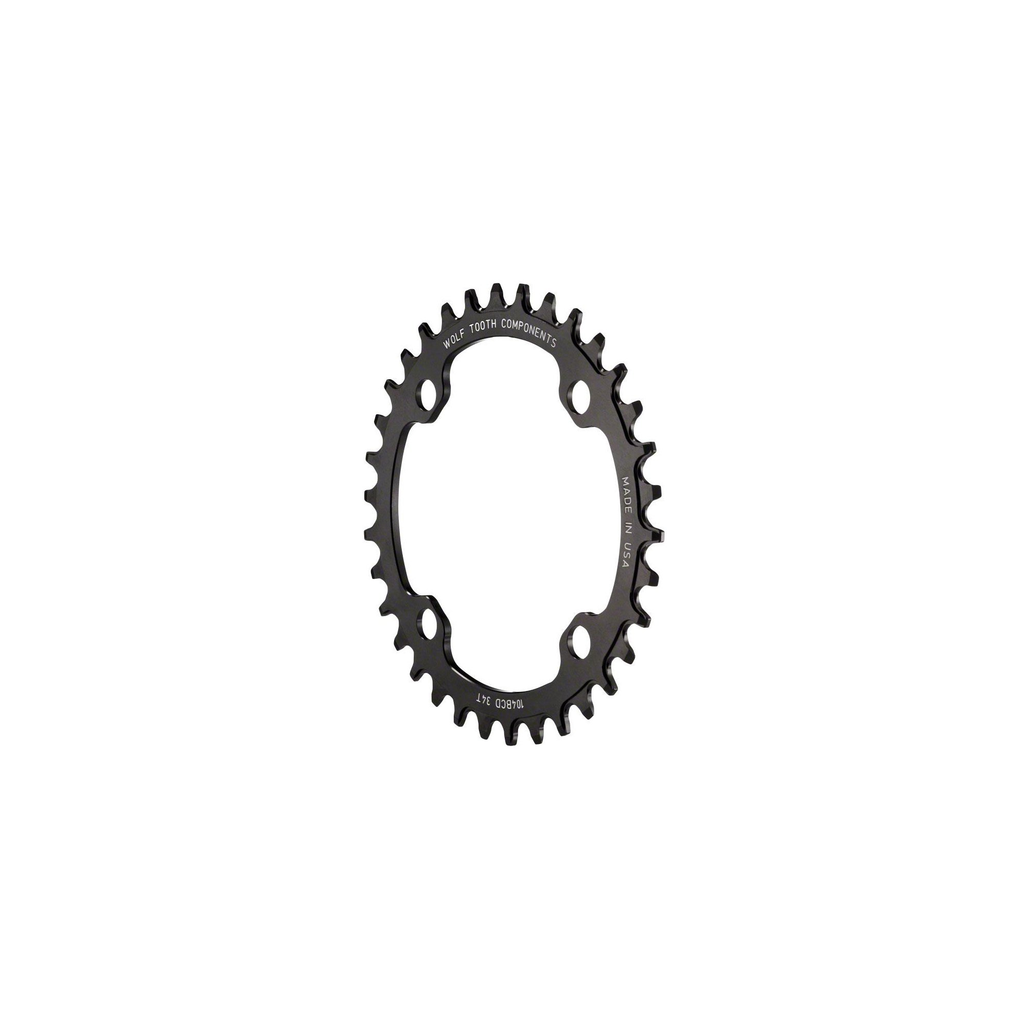 Wolf Tooth Components Drop Stop Chainring Black, 38T/104 (XTR M9000) BCD by Wolf Tooth Components