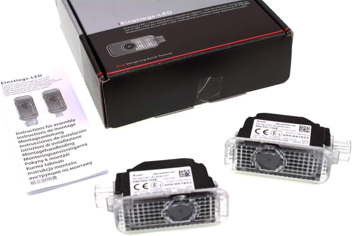Original Audi LED einstieg Leuchten Quattro Texto Puerta ...