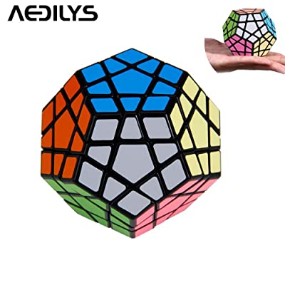AEDILYS® 12 Color Megaminx Speed Cube Puzzle ,Megaminx Brain Teaser Magic Cube Speed Twisty Puzzle Toy: Informática