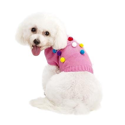 Amazon.com : Pet Dog Cat Clothes, Puppy Winter Warm Sweater ...