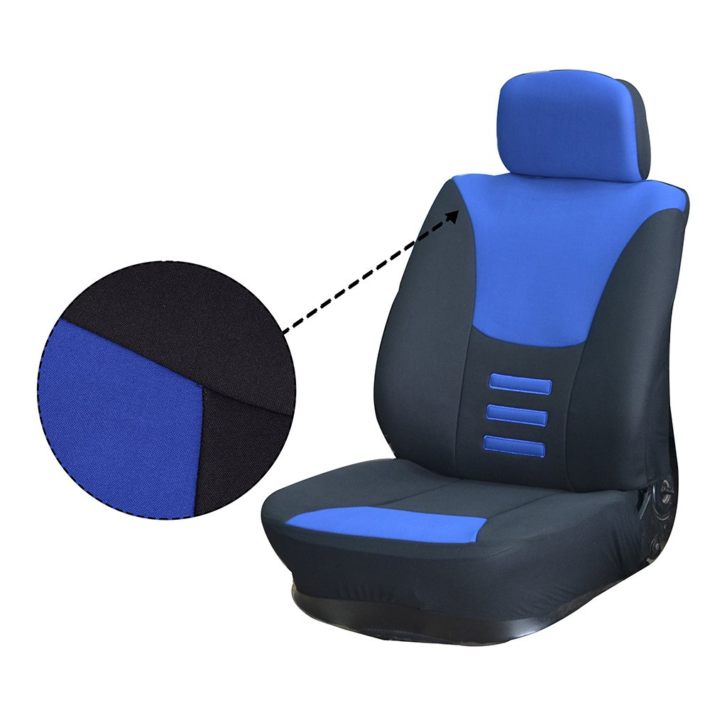 cciyu Seat Cover Universal Car Seat Cushion w//Headrest Covers//Steering Wheel//Shoulder Pads Black//Beige 100/% Breathable Car Seat Cover Washable Auto Covers Replacement fit for Most Cars