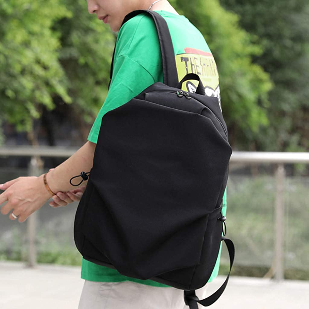 DIOMRO Simple Outdoor Large Backpack USB Jack Students College Business Laptop Satchel Resistant Waterproof Rucksack