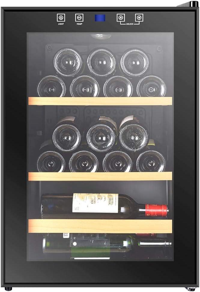 AURALLL LED – Table-Top Wine Fridge Black | 4-18°C | Glass Door Drinks Cellar | Wine Cooler | 3 Layers 60 cm Deep (25 Bottle)