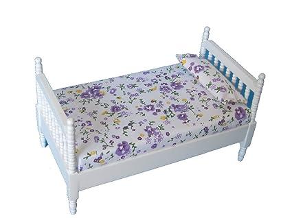 Creal letto singolo letto bianco legno per casa delle