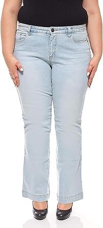 Sheego Pantalones Anchos Para Mujer Con Efectos Usados Talles Grandes Azules Tamano 44 Amazon Es Ropa Y Accesorios