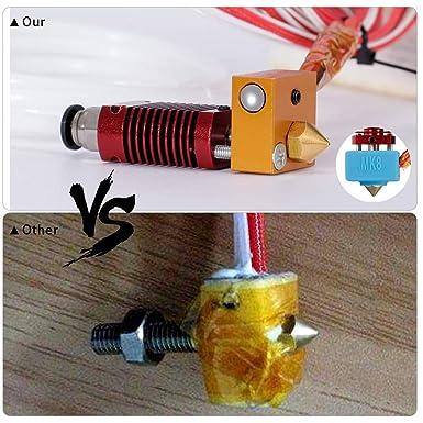 24V 40W MK8 Extruder Kit for Ender 3 PRO with Aluminum Heating Block 1.75mm BZ 3D Ender 3 Hotend Assembled Ender3 Hot End 24V40W 0.4mm Nozzle.