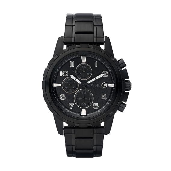 Fossil FS4646 - Reloj analógico de cuarzo para hombre con correa de acero inoxidable bañado,