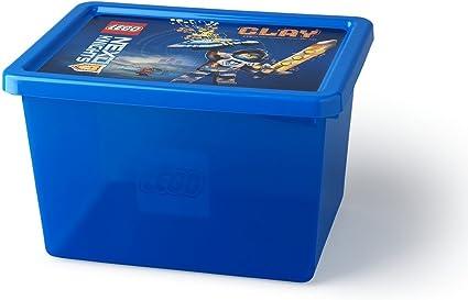 LEGO 4094 Caja Grande de Almacenamiento Nexo Knights de 18 l, Apilable, Azul translúcido, Blue, 37.8 x 29.7 x 23.5 cm: Amazon.es: Hogar