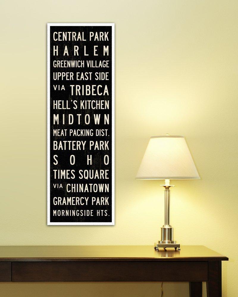 Amazon.com: New York Subway Sign, New York Poster, Canvas Art Print ...