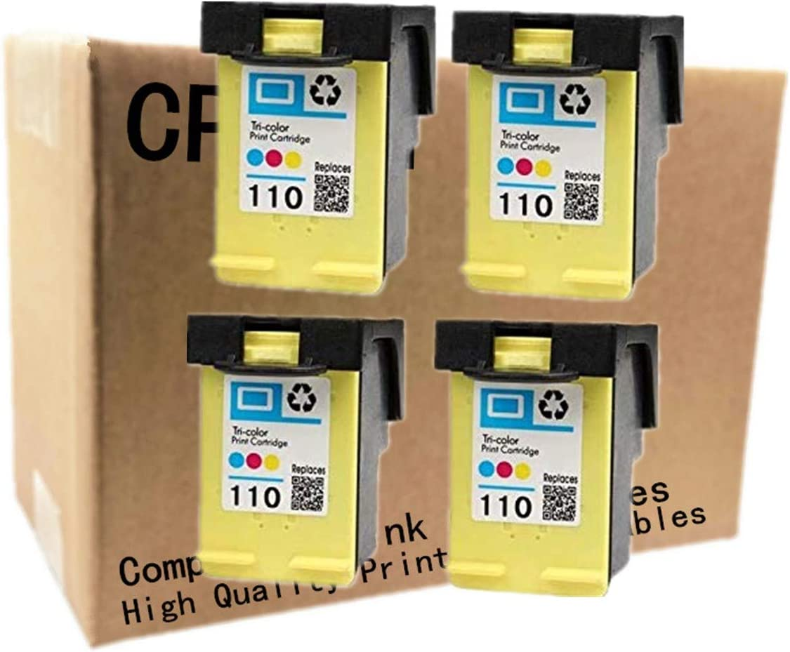 No-name Remanufactured Ink Cartridges Replacement for HP 110 XL 110XL HP110 HP110XL Photosmart A433 A618 A432 A314 A516 A612 A717 A320 A436 A440 Inkjet Printer (4 Pack)