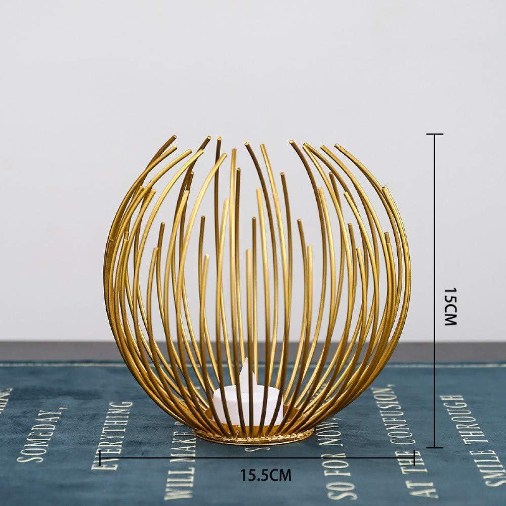 MMGC Candelabro de Hierro Forjadoartesanías de Metal Creativascandelabro deHierro decoración decoración del hogar Mesa candelabro decoración