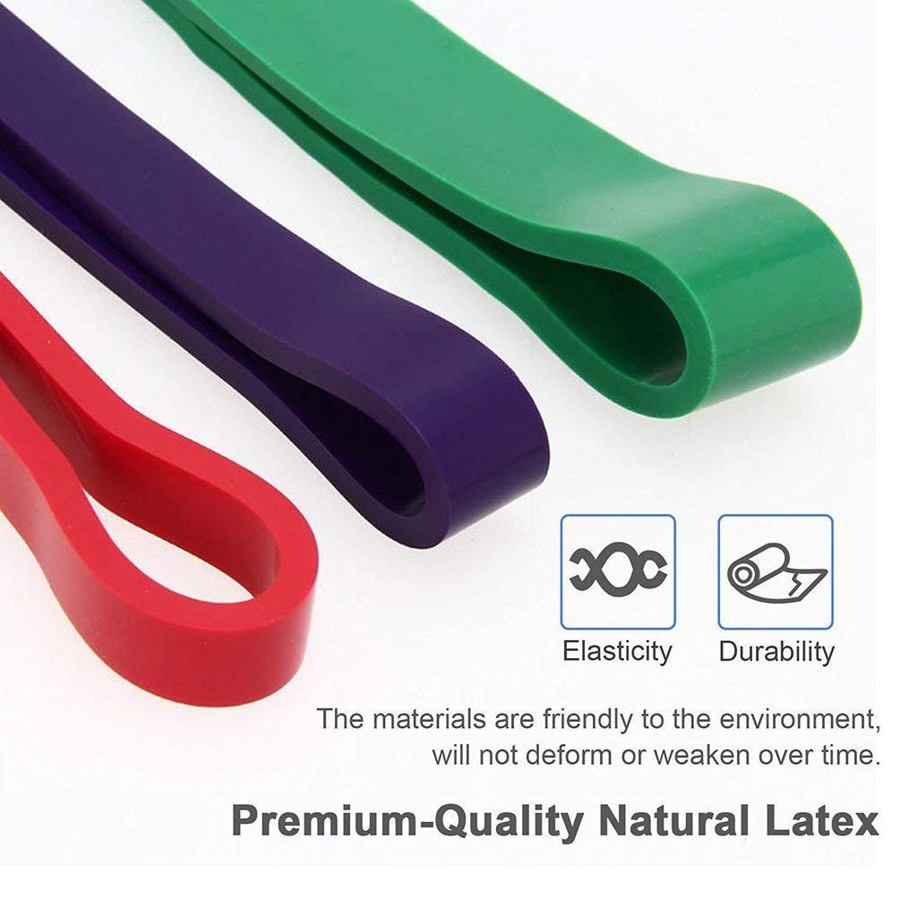 TAOHOU Pull Up Assist Bands Gym Stretching Bands Elastic Band Power Resistance Bands Red