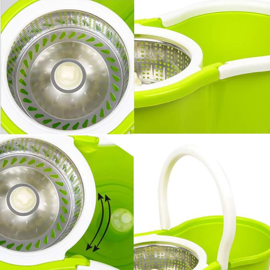 Aifulai Schleuder-Moppschaufel-System Easy Wringer-Mikrofaser-Spinnmopp Wringer-Mikrofaser-Spinnmopp Wringer-Mikrofaser-Spinnmopp für die Bodenreinigung im Innenbereich , Stahlblau + Edelstahlstange + Kunststoffplatte + 2 3 4 6 Mikrofaser-Moppkopf B07KB6594G Schaufel & Besen Sets 6193bf