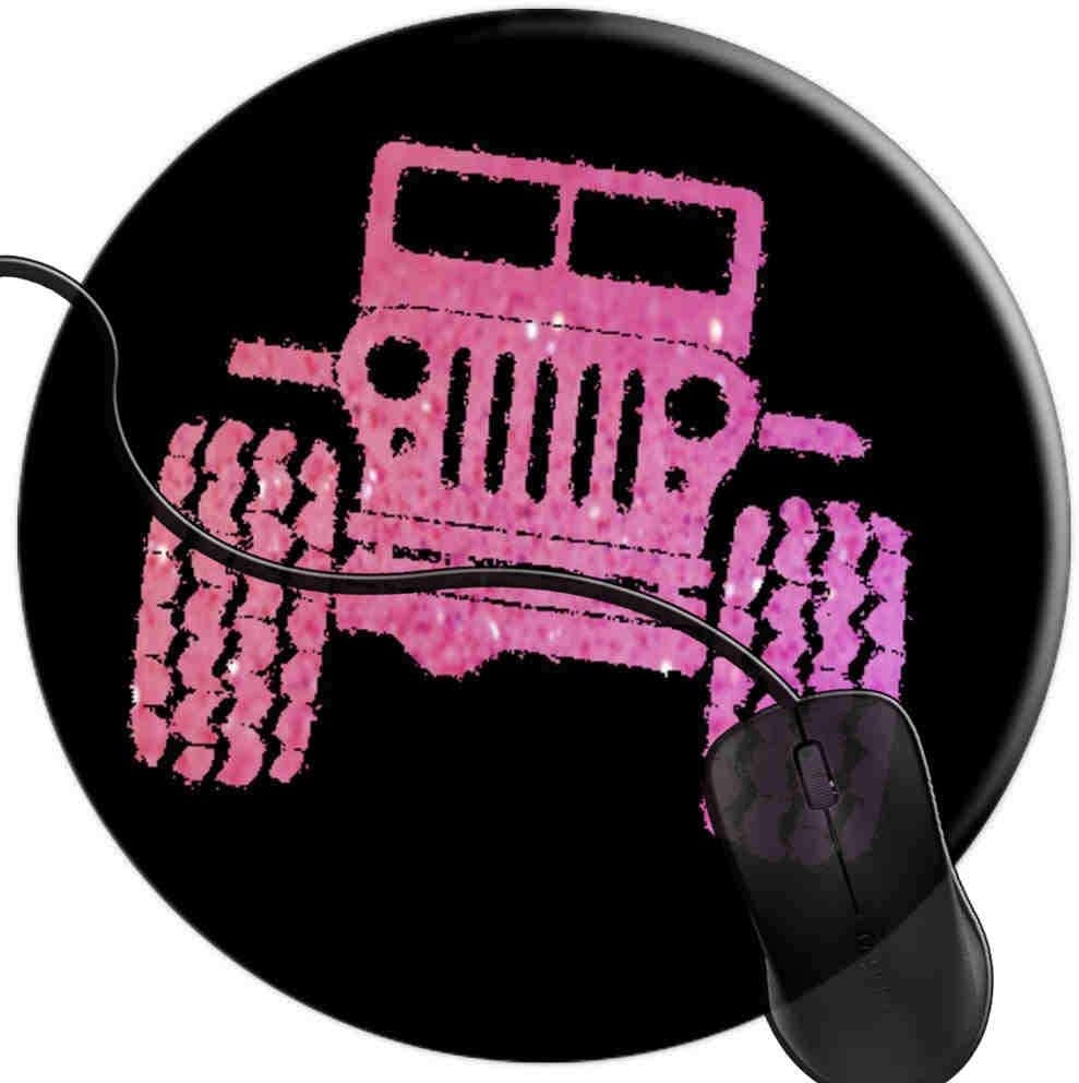 Mouse Pad for Computers,Gaming Mouse-Pads Office for Laptop Mouse Mat for PC Non Slip Mice Pad Jeep Drivers Girly Girl Pink 2T3273