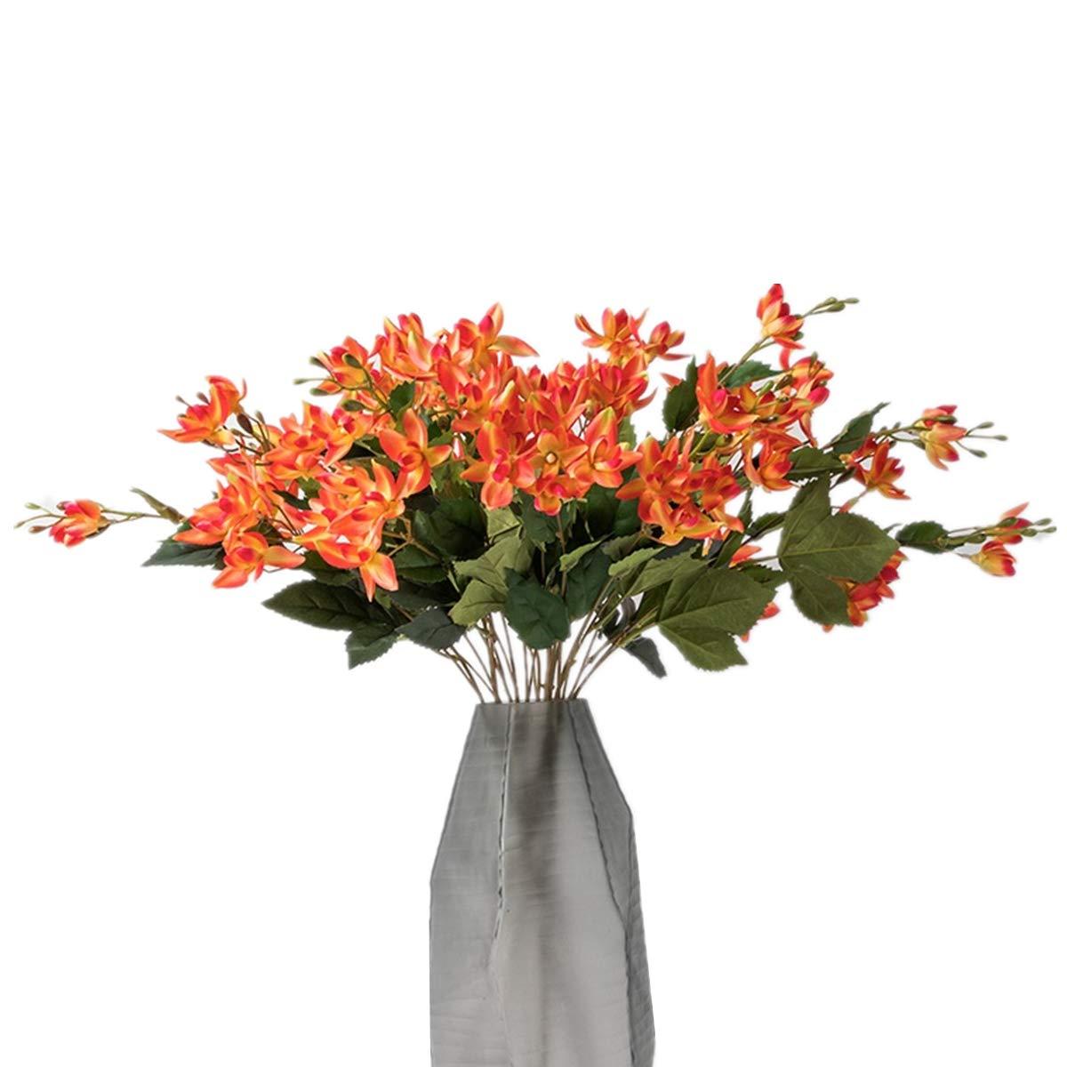 XINFU 1ピース 35インチ 人工オーキッド リアルタッチ シルク人工オーキッド ホームデコレーション 花瓶なし Each height: 35