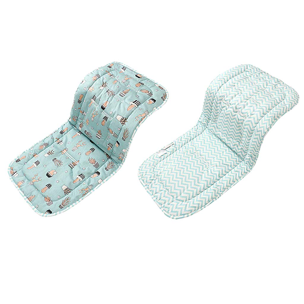as described P Prettyia Baby Diaper Pad Baby Stroller Seat Accessories Pad Carriage Cushion Thick Mat Blue Wave Cactus