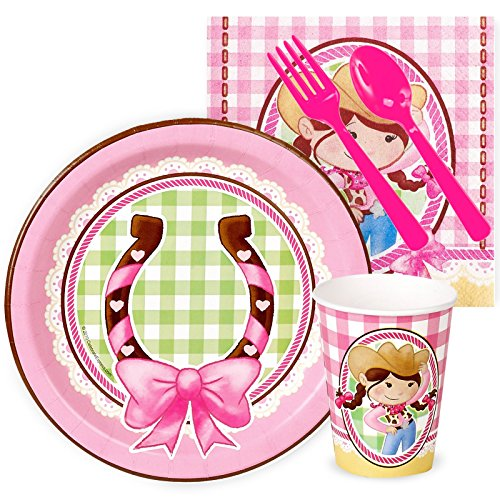 Pink Cowgirl Party Supplies - Snack Party Pack