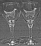 Gordon Setter Dog Laser Etched Wine Glass Set (2, TDW)