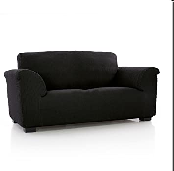 textil-home Funda de Sofá Elástica TIDAFORS, 3 plazas - Desde 180 a 240 cm. Color Negro (Modelo Exclusivo Funda Sofá TIDAFORS IKEA): Amazon.es: Hogar