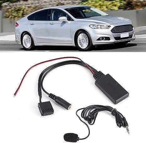 Akozon Aux In Kabeladapter Bluetooth Im Auto Mit Mikrofon Freisprechen Geeignet Für Ford Focus 6000cd Auto