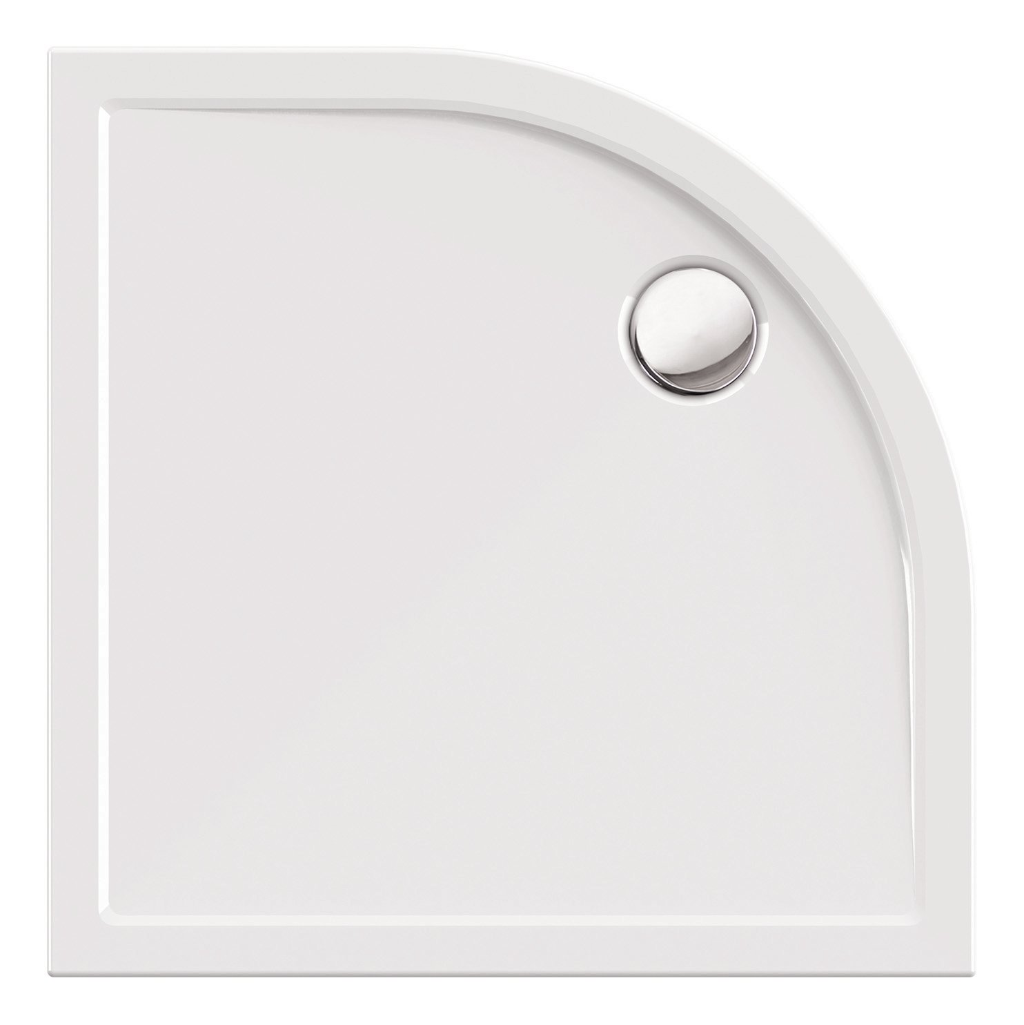 AquaSu 80221 5 Acryl-Dusch-Wanne tEso Round, 90 x 90 cm, Weiß, Duschwanne, Brausewanne, Bad, Badezimmer, 90 x 90 x 2,5 cm