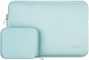 MOSISO Laptop Sleeve Compatible with 13-13.3 inch MacBook Pro, MacBook Air, Notebook Computer, Water Repellent Neoprene Bag with Small Case, Mint Green