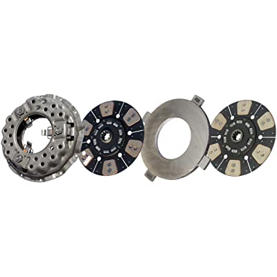 """IATCO LP1113-606-IAT 14"""" x 1-3/4"""" DLB Stamped Steel Clutch (Two-Plate, Push-Type, 6-Round / 10-Spring, 2400 Plate Load / 1000 Torque): Automotive"""
