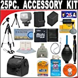 25 PC ULTIMATE SUPER SAVINGS DELUXE DB ROTH ACCESSORY KIT For The Canon VIXIA HV40, HV30, HV20, HG10 High Definition Camcorders