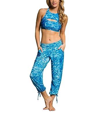 8969b99d37ec1 Onzie Hot Yoga Gypsy Pants 212 Tie Dye Blue (Tie Dye Blue, Small/
