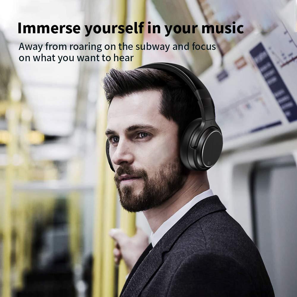 Bluetooth Over Ear Kopfhörer Noise Cancelling Wireless HiFi Bass Stereo 50 Std.Laufzeit Headset für Telefon PC TV Tablets