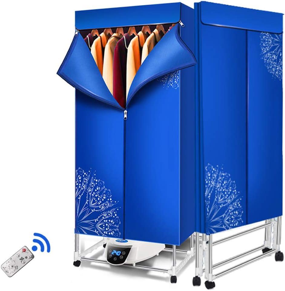 WenFei shop Secadora, Secadora de Ropa Plegable de Doble Capa, Estante de Secado eléctrico de 15 kg de Capacidad con Temporizador Digital automático con Control Remoto (Color: Rojo y Azul): Amazon.es: Hogar