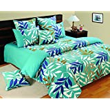 Yuga Décor Printed Cotton Blue King Size Decorative Duvet Cover Bed Set 90 X 108 Inches