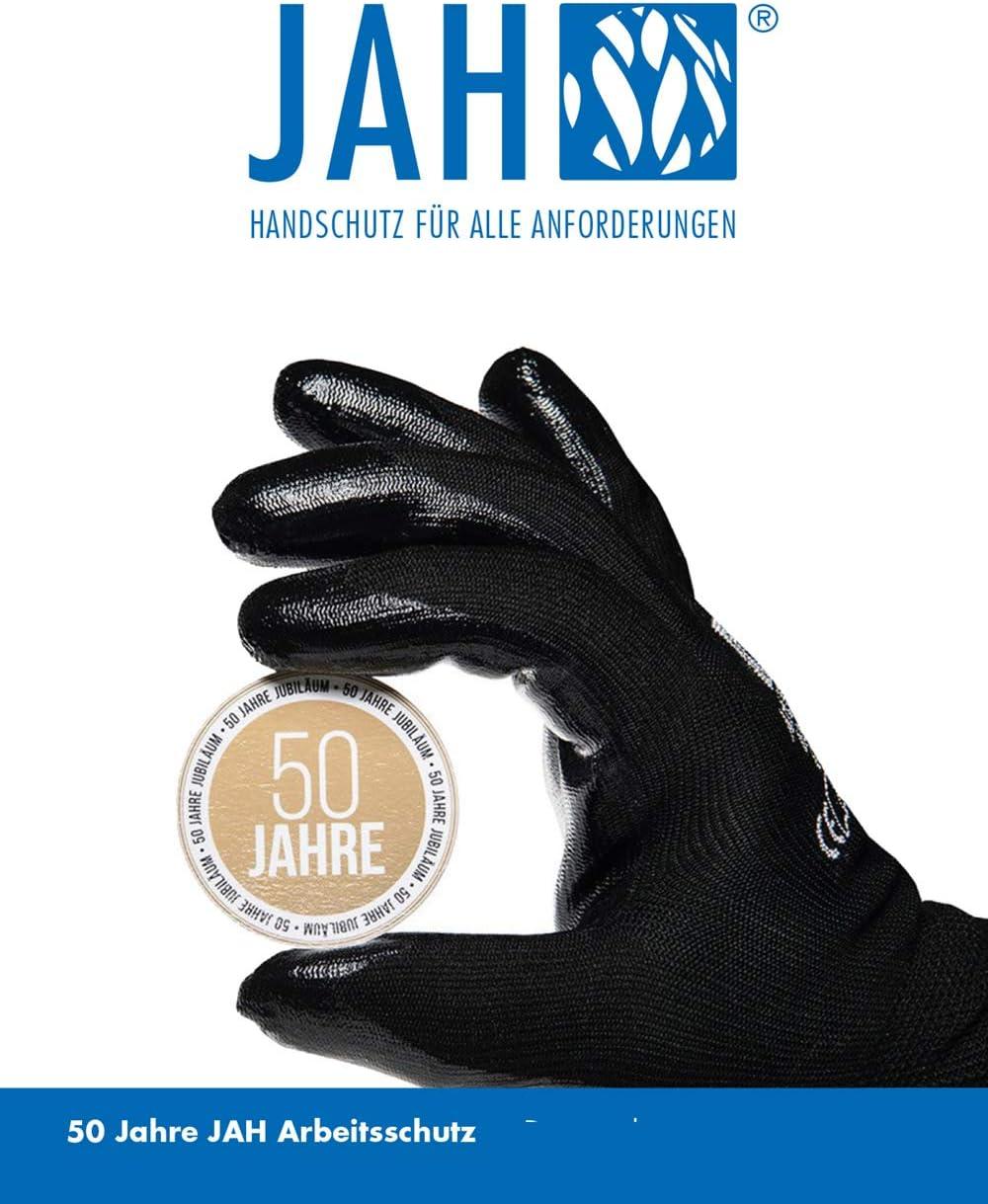 Puntos Set de 24 Piezas Azul Peso Medio Jah 5030 Guantes algod/ón y poli/éster 6