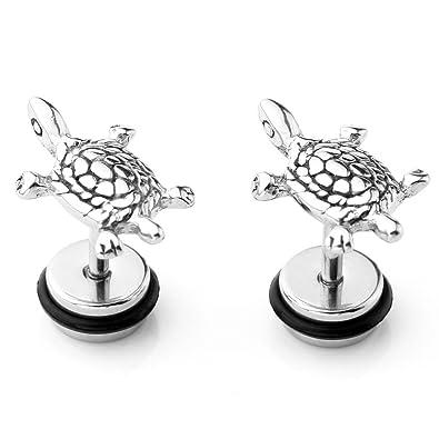 5ceb55b5c Amazon.com: JOVIVI 2pc Stainless Steel Sea Turtle Cartilage Helix Stud  Earrings 16 Gauge 5/16