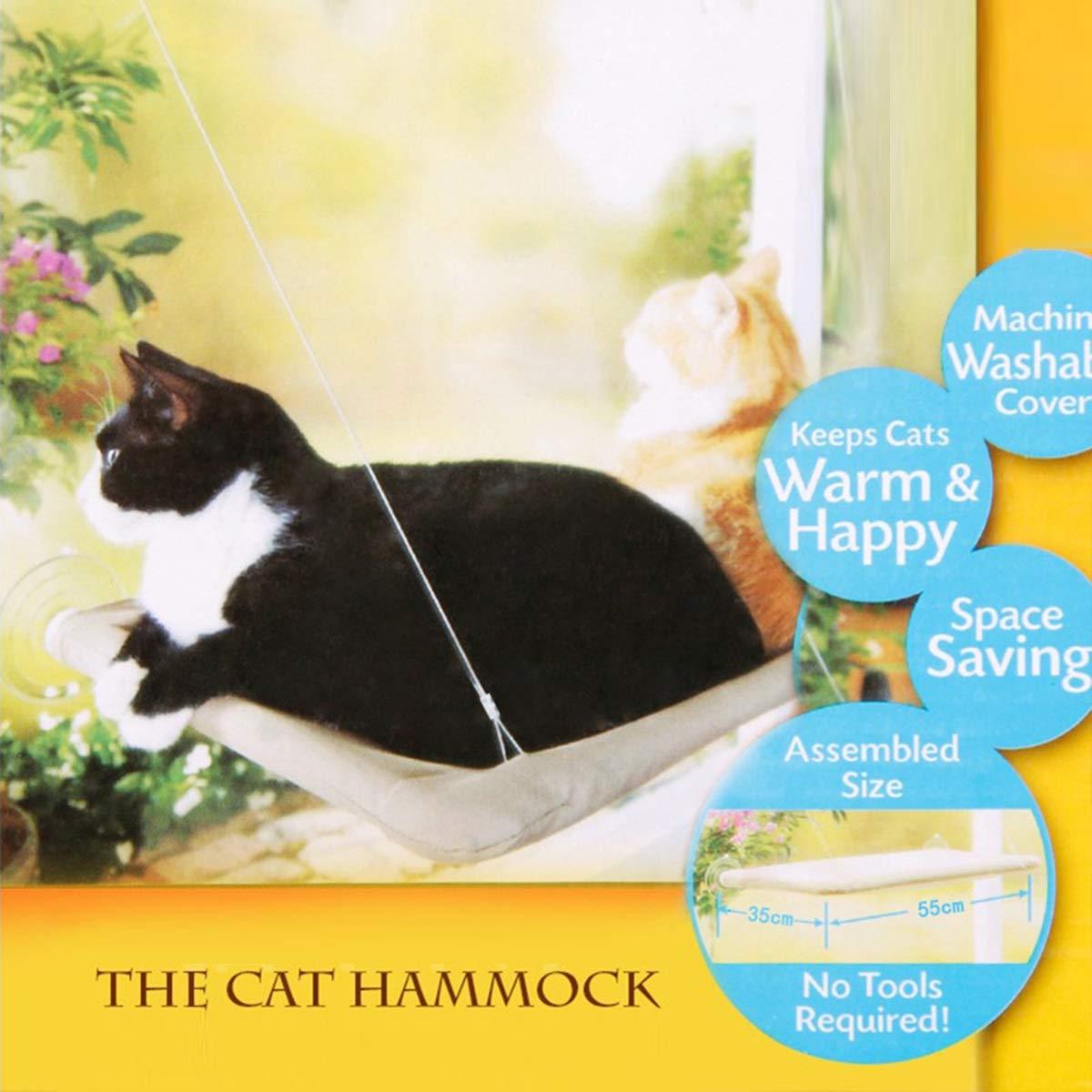 Providing All Around 360/° Sunbath for Cats Sunbath Seat Cat Hammock Pet Resting Seat Safety Cat Shelves Eurobuy Cat Window Perch bed