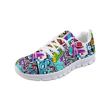 662111a63d654 Showudesigns Comfortable Sneaker Women Running Sport Shoes Fashion Pattern