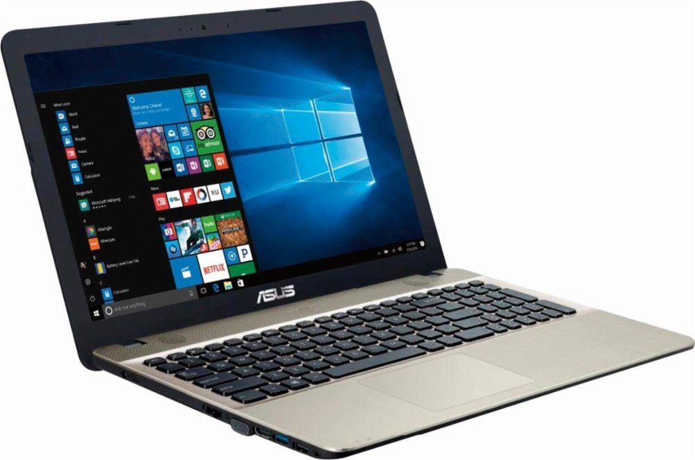 2017 ASUS VivoBook 15.6'' HD High Performance Premium Laptop PC, Intel Pentium Quad-Core N4200 Processor, 4 GB RAM, 500GB HDD, DVD/CD Burner, WIFI, HDMI, Webcam, Windows 10 by Asus