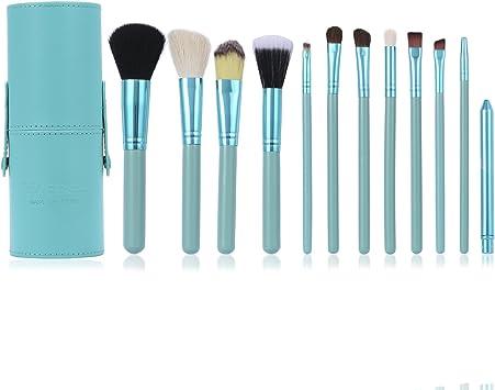 Set de Brochas de Maquillaje Luxebell 12pcs Pinceles Profesionales para Polvos Sombra de Ojos Fundación Corrector Ceja (Azul Celeste): Amazon.es: Deportes y aire libre