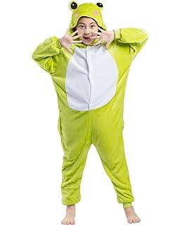 ab6a10ef29246 Magicmode Unisexe Enfants De Bande Dessinée De Grenouille Un Morceau Grenouillère  Pyjama Costume De Cosplay