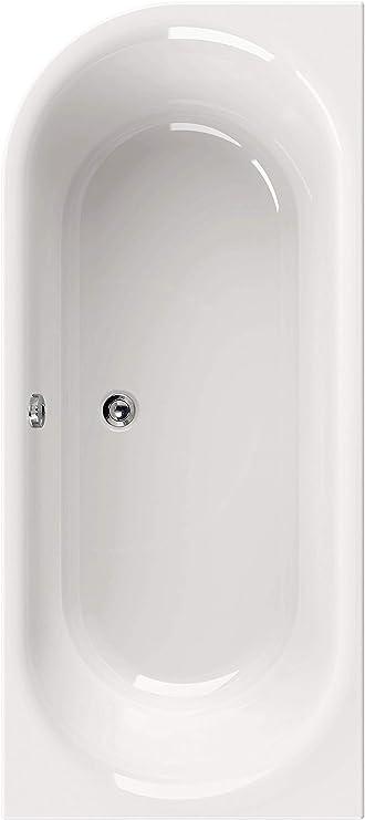 Badfaszination Exclusive Line Rechteck-Badewanne 180 x 80 cm weiß Kingston