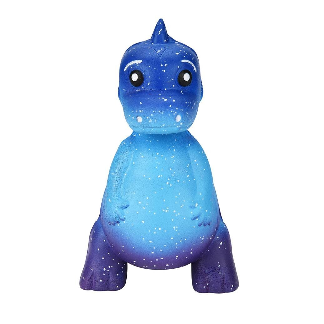 callm Jumbo Squishy Hamburger Cat Squeeze Toys, Slow Rising Soft Cream Scented Charms Squishy Stress Reliever Toys for Kids and Adults (Blue Cat Cake)