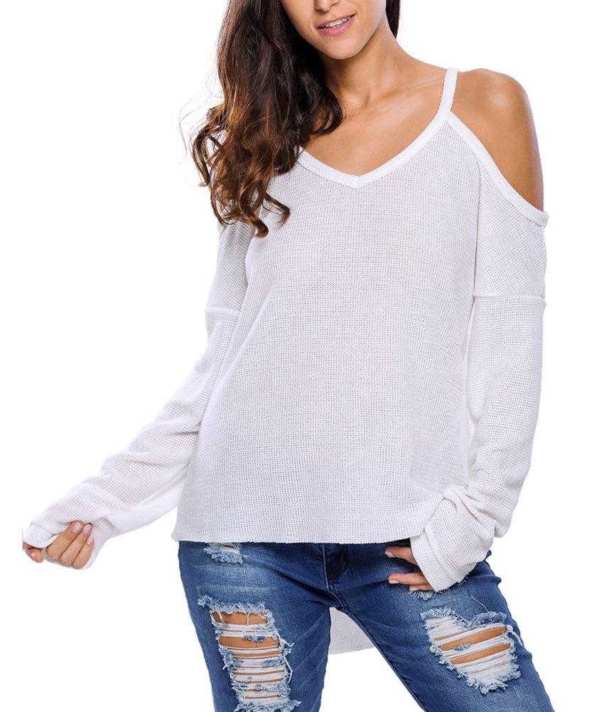 Suéter Elegante Mangas Largas Pullover Tops Jersey Suéter para Mujer