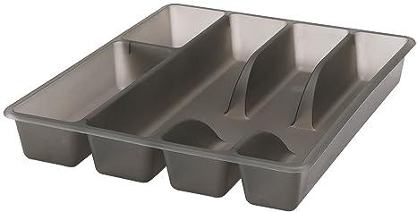 IKEA Calidad Premium de plástico, 5 particiones moderno Cubiertos estante de almacenamiento bandeja el uso