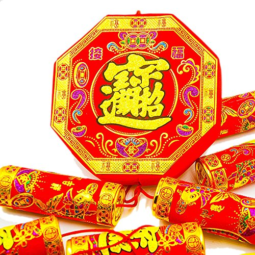 KI Store Chinese Traditional Decorations Luna New Year Spring Festival Home Decor Restaurant Hanging Firecracker Large 57