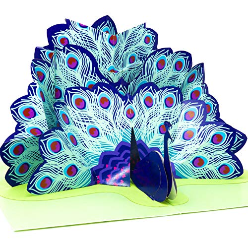 - Paper Love Peacock Pop Up Card, 3D Popup Greeting Cards, For Mothers Day, Fathers Day, Graduation, Spring, Valentines Day, Wedding, Anniversary, Birthday, Any Occasion