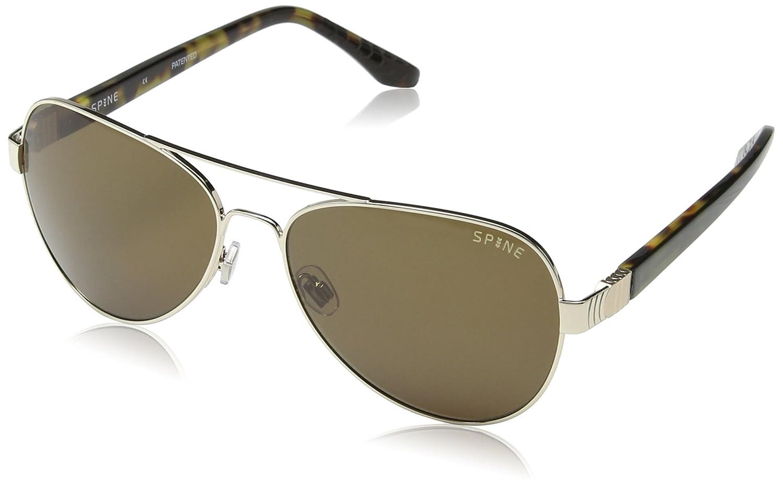 SPINE Lunette de soleil SP4001 001 Aviator - Black/Grey Lens 67gp2V0Zw5