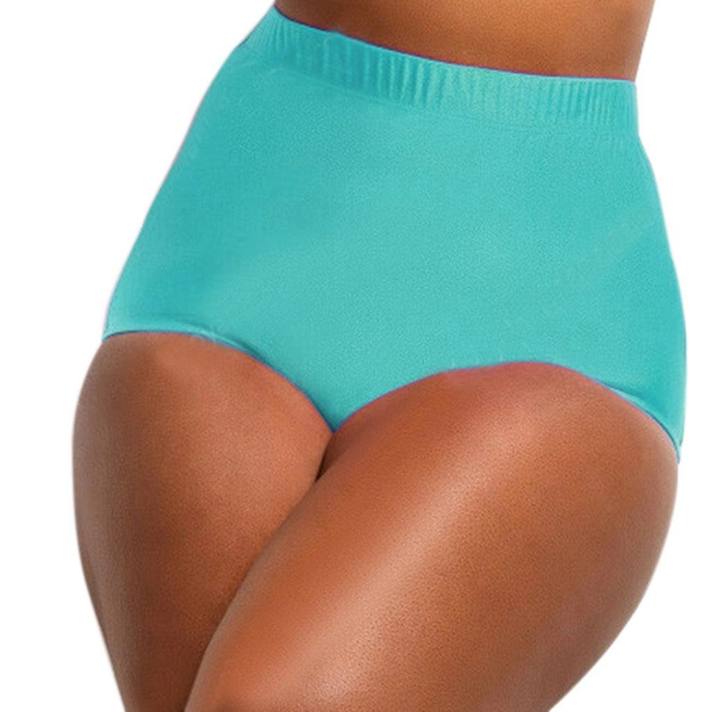 0b8366eff7f Amazon.com: Bikini Bottoms,Leewos High Waist Bottoms Solid Pattern Swimsuit  Briefs Swimming Pants Bathing Suit Bottoms For Women Girls Ladies (XXXXL,  ...